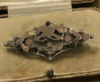 Antique Silver And 9ct Gold Naval Sweetheart Love Brooch