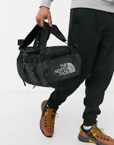 THE NORTH FACE BASE CAMP DUFFEL BAG SIZE XS TNF BLACK METALLIC SILVER