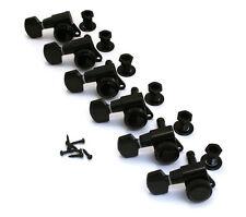 LEFTY Schaller Black LOCKING 6 Inline Tuners for Strat/Tele® Guitar TK-0974-L03