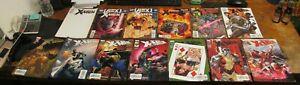 Lot of 13 UNCANNY X-Men MARVEL Comic Books #1 #17-18 #20 #458 #496 #498-503 #507