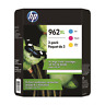 NEW HP 962 XL 3-Pack High Yield Tri-Color Ink Cartridge Exp 10/2021+ 3JB36BN