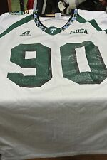 TULANE UNIVERSITY GAME USED FOOTBALL JERSEY WHITE SIZE XL  90 92c6f25cd