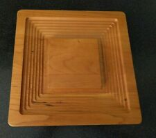 J.K. ADAMS VERMONT MAPLE WOOD TRAY CHEESE PARTY PLATTER  for mid century modern