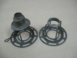 Antique Bronze 2 Argand Astral Oil Lamp Original Shade Fitters Good & Repair