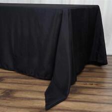 "10 Pk Black 72x120""  Polyester Rectangle Seamless Tablecloth Wedding Party"