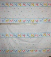"2yd Quilting Sewing Cotton Fabric Baby Rocking Horse Stripe 58"" Wide"