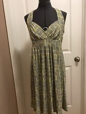 Sexy Sun Dress / Party Dress Size 14, Yellow and Gray, by AA Studio