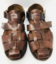 To Boot New York Adam Derrick Brown Leather Fisherman Sandals Mens Sz 11