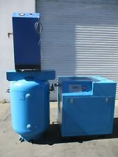 Eaton 75hp Rotary Screw Air Compressor With Tank And Dryer Model Ec Srw3 75