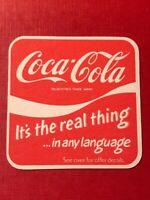 VINTAGE 1980'S COCA-COLA - DRINKS MAT - VGC