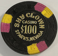 SHY CLOWN $100 Casino Chip SPARKS Nevada 3.99 Shipping