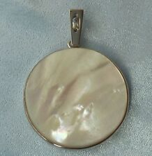 Sterling Pendant 35mm Gold Lip Mother of Pearl,  Without Chain, Konder #288
