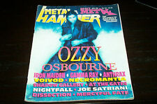 METAL HAMMER MAGAZINE 12/1995 OZZY IRON MAIDEN VOIVOD AT THE GATES MERCYFUL FATE