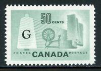 "Canada MNH Back of Book: Scott #O38a 50c Light Green ""G"" CV$5+"
