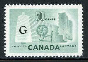 "Canada MNH Back of Book: Scott #O38a 50c Light Green ""G"" CV$5+"