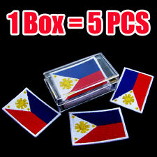5 Patches Philippines Flag Embroidered Iron On Patch Philippine Filipino Manila