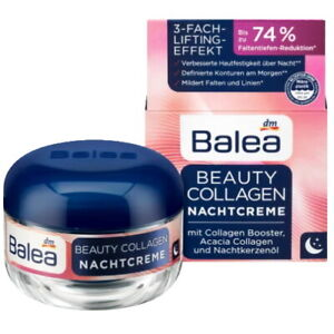 Balea Beauty Collagen Night Cream with 3-Fold Lifting Effect for 40+ Age, 50ml