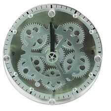 UNUSUAL COGS MOVING GEAR WALL/STAND CLOCK CLY23