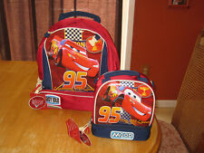 Disney NWT Cars Red Lightning McQueen Backpack+Lunchtote lunch tote box
