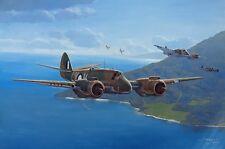 Original Aviation Art: 'The Strafing Party'  RAAF Bristol Beaufighters