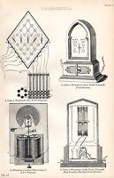 1880 Aufdruck ~ Telegraphy 5 Nadel Cooke & WHEATSTONE'S Abc Einzel Nadel Etc