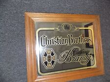 LARGE FRAMED THE CHRISTIAN BROTHERS CALIFORNIA BRANDY BAR MIRROR
