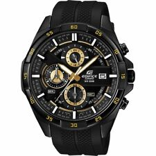 Casio Edifice EFR-556PB-1A Mens Watch Chronograph Analog Black Round Face Japan