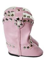 """Doll Clothes AG 18"""" Boots Cowgirl Studded Pink Made To Fit American Girl Dolls"""