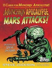 Munchkin Apocalypse Mars Attacks! & Promo Bookmark Steve Jackson Games Topps