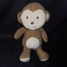 "9"" CARTER'S BABY BROWN MONKEY JUST ONE YOU RATTLE STUFFED ANIMAL PLUSH TOY SOFT"