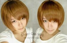 cosplay Death Note Yagami Light Blond Brown short wig  Free shipping