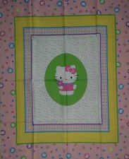 Brand New Hello Kitty Cot Quilt Panel