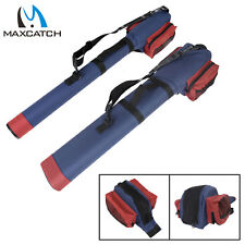 Fly Fishing Rod Case with Box Pocket Triangle Cordura Rod Tube For 9ft Rod