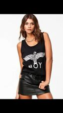 BOY LONDON EAGLE  Print Black vest top Ladies Women BLACK T-SHIRT london