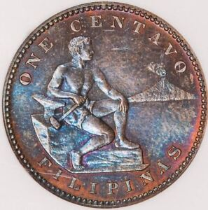 Philippines Centavo 1C 1904 PF-64 RB NGC - Proof Coin