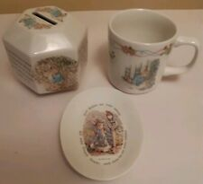 3 x ASSORTED PETER RABBIT WEDGWOOD FREDERICK WARNE ITEMS