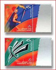 AUS0020  Paralympics Sydney 2000 Olympic Torch 2 pieces MNH AUSTRALIA 2000