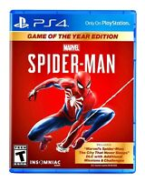 Marvel Spider-Man PS4 Game Of The Year Edition Brand New Sealed PlayStation 4