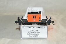 N scale Fox Valley Models Milwaukee Road RR transfer caboose car train