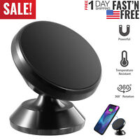 Universal 360° Magnetic Car Mount Cell Phone Holder Stand For iPhone Samsung GPS