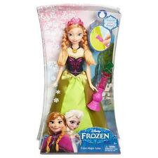 "Disney Frozen COLOR MAGIC ANNA 12"" Doll Magical Color-Change Skirt w/Wand-NEW"