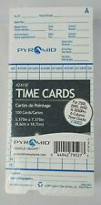 Pyramid 42415F Time Card 100 pack French/English for 2500, 2600, 2650