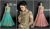 LongGown Salwar Kameez Suit Dress Indian Designer Anarkali Gown Wedding Style