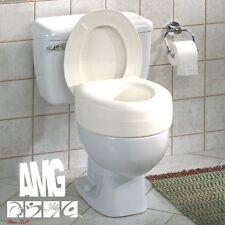 Universal Toilet Seat Riser Standard Portable Plastic Kit Lightweight Heavy Duty