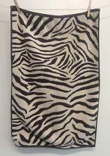 "POTTERY Barn Zebra Hand Towel Browns EUC 18"" x 28"""