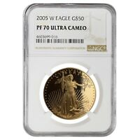 2005 W 1 oz $50 Proof Gold American Eagle NGC PF 70 UCAM