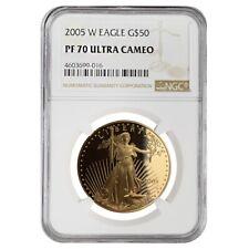 2005 W 1 oz $50 Proof Gold American Eagle NGC PF 70 UCAM