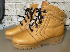 Vintage Womens Husky Bastien Leather & Sherpa Boho Boots Canada 6.5 M Style 1226