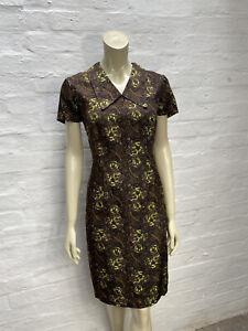 DA35 Vintage 1950's Handmade Dress Size 12 14