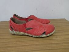 LOVELY JOSEF SEIBEL RED LEATHER FLATS SHOES SIZE 6